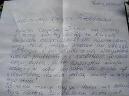 List Siostry W. M. do starszych zboru ŚJ